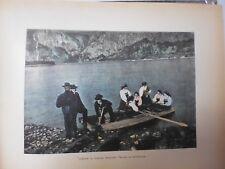 NORVEGE/SUEDE/Gravure 19°in folio couleur/PROVINCE DE SAETERSDALEN /COSTUMES