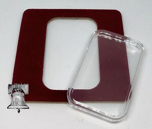 Air-tite Coin Holder Red Velvet Display Card Insert Silver Gold Bar Capsule Case