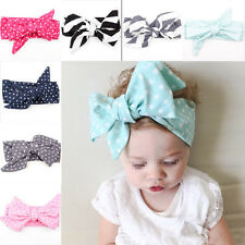 9PCS Cute Kids Girl Baby Toddler Bow Headband Hair Band Accessories Headwear
