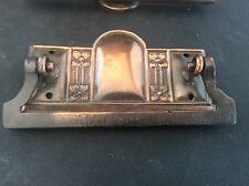 Original Antique 1912 Art Nouveau Copper Drawer Dresser Handle Impressed Rd No