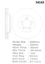 Disc Brake Rotor-RotoMax- Premium Coated Rotor Front Promax 20-54143