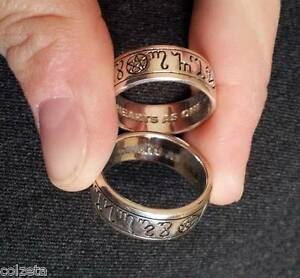HANDFASTING RING sterling SILVER sizes 5 to 13 inc HALF SIZES by Peter Stone
