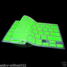 """Silicone Keyboard Cover Skin for Apple Macbook Pro MAC 17"""" 15"""" 13"""" Green US Ship"""