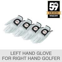 Kirkland Signature Leather Golf Glove 4-pack- Right Handed, Medium-Large (1062)
