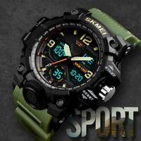 SKMEI Mens Sport LED Digital Alarm Waterproof Chrono Military Quartz Wrist Watch