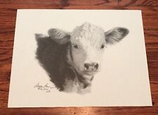 Black And White Cow Wayne Baize Signed Lithograph