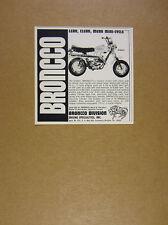 1974 Broncco Diablo Mini-Cycle minicycle motorcycle photo vintage print Ad