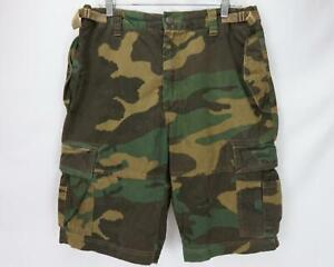 Decibel Camouflage Cargo Shorts Camo Green/Brown Men's Waist 36