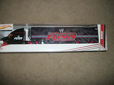 WWE 2012 Hot Wheels Hauler Semi WWe Raw  New Box design