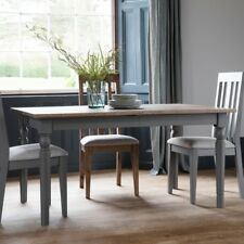 Frank Hudson Gallery Direct Cookham Oak Extending Dining Table Painted Grey