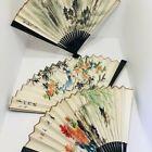Set of 3 Wood-Framed Chinese Art Fans
