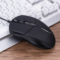 New 3 Button 1200 DPI USB Wired Silent Optical Gaming Mice Mouses For PC Laptop