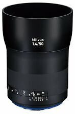 New Carl ZEISS Milvus 50mm f1.4 ZE Lens for Canon EF DSLRs  Made in Japan