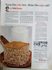 1954 Betty Crocker How Do you Like Your Cake Hot Or Cold Original Ad