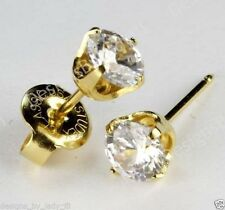 Studex System 75 ear piercing stud gun kit cubic zirconia 24k gold plate 5mm