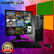 "LENOVO THINKCENTRE M82 COMPUTER WINDOWS 10 INTEL CORE i3 4GB 250GB 19"" PC GAMES"