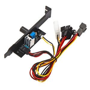 PCI-Blende Lüftersteuerung, 3 Kanäle PC-Kühler Lüfter-Geschwindigkeitsregler