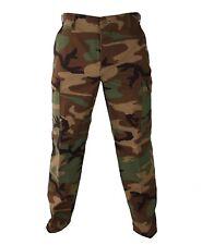 New Woodland Camouflage Combat BDU Pants Trousers sz Large Long 8415-01-084-1714