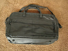 """PIERRE CARDIN LEATHER TRAVEL BAG 20"""" X 12"""" TOURING COLLECTION  BLACK LUGGAGE"""