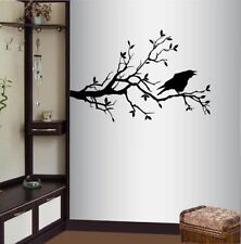 Vinyl Decal Raven Bird on Tree Branch Birds Bedroom Living Room Wall Sticker 672
