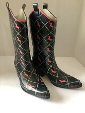 Women's Bit And Bridle Boots rain garden rubber boots Size 9