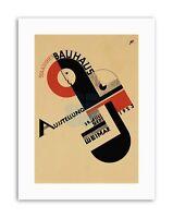 BAUHAUS WEIMAR ICON GERMANY Poster Vintage Advertising Retro Exhibition Canvas