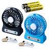 Portable Rechargeable LED Light Fan Air Cooler Mini Desk USB Fan + 18650 Battery