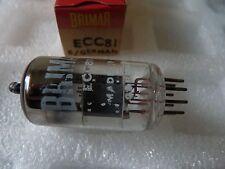 ECC81 BRIMAR Made in Germany NUOVO VECCHIO STOCK tube valvole 1 PC J17A