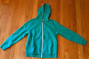 H&M Basic Full Zip Long Sleeve Green Hooded Sweatshirt Hoodie Youth Size 8-10 Y