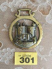Horse brass Harlech castle brass buckle