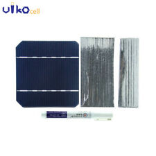 30PCS Mono Solar Cells Kit 5x5 With Bus Tabbling Wire For DIY Solar Panels