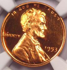 1953 Proof Lincoln Wheat Cent 1C - NGC PR66 RD Cameo (PF66 CAM) - $340 Value!