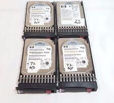 """4 X HP 376597-001 72GB 2.5"""" 10K RPM SAS Hard Drive W/Tray - 30 Day Warranty"""