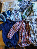 24 Month BABY TODDLER TOPS FALL WINTER BOYS CLOTHES SHIRTS LOT Oshgosh ect