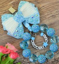 Personalised stunning pram charm  for baby girls boys ideal gift  blue