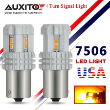 AUXITO 2x 7506 1156 BA15S P21W Amber Yellow Turn Signal DRL Tail LED Light Bulbs