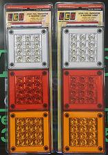LED Autolamps 2x 280ARWM Stop/Tail/Ind/Reverse Lamp 12/24 Volt Truck/4WD/Caravan