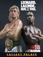 Leonard vs Lalonde - Nov. 7, 1988 Fight Poster - 7.5 x10 Color Photo