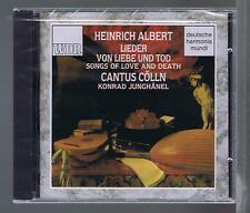 HEINRICH ALBERT CD NEW SONGS OF LOVE & DEATH CANTUS COLLN