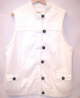 Old Navy Maternity Long Sherpa Cotton Vest Women XXL Cream White Pockets Zipper