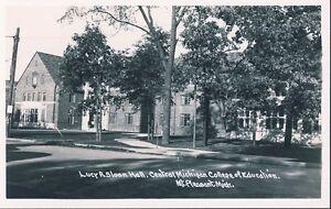 MT PLEASANT SLOAN HALL CENTRAL MICHIGAN COLLEGE of EDUCATION RPPC Photo Postcard
