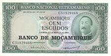 A SAISIR   BILLET   DE  100  ESCUDOS   MOZAMBIQUE    NEUF  1961      !!!!    UNC
