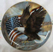 """American Eagle and US Flag Plate 8"""""""