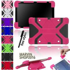 """Fit Various 10"""" Tablet - Universal Shockproof Silicone Stand Cover Case + Stylus"""