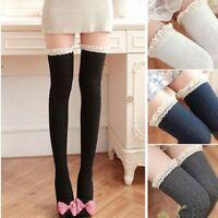 tricoter des chaussettes en dentelle tigh haut plus de genou les femmes bas