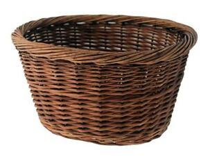 588160197 - Basket Oval IN Wicker, Sizes: 36x30x19cm. Brown