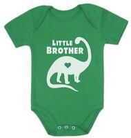 Little Brother Gift for Dinosaur Loving Boys Siblings Baby Bodysuit Dino
