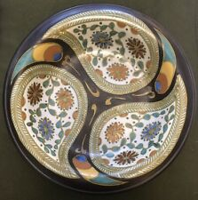 "Vintage 14 1/2"" Gerdy Gouda Holland Art Pottery, Multi Colored Large Platter"