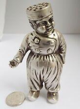 LOVELY HEAVY ENGLISH ANTIQUE 1913 CAST STERLING SILVER NOVELTY DUTCH BOY PEPPER