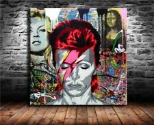 Not Framed Canvas Print Home Decor Wall picture Banksy mr brainwash david bowie
